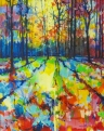 Mile End Woods, 016 009 (80 x 100 cm, acrylic on canvas) £1500 plus delivery  by Doug Eaton