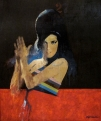 Brian Denington, Amy Winehouse ( 36 x 30 inches, Oil on Board) £2500 Plus Delivery by Brian Denington