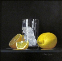 Lemons Ice and Twisted Glass by Peter Kotka