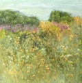 Meadow Walk 18-025 (mixed media 100 x 100cm unframed) £2250 plus delivery by Sally Stafford