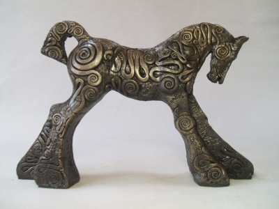 Coils Foal (bronze resin (edition 8 of 50) 29 x 19 x 7cm) £250 plus delivery by April Young