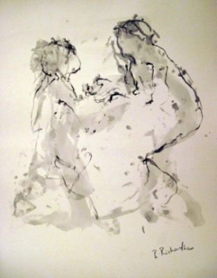 Play (pen & ink framed) £450 by Beth Richardson (Drawings)