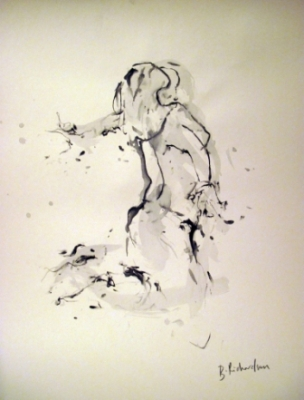 Breathe (pen & ink framed) £450 by Beth Richardson (Drawings)