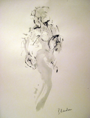 Twist (pen & ink) mounted £350 framed £450 plus delivery