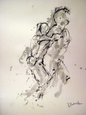 Strength (pen & ink) mounted £350 framed £450 plus delivery by Beth Richardson (Drawings)