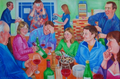 Party (oil on canvas 100 x 70cm framed ) £595 plus delivery by Jenny Williams