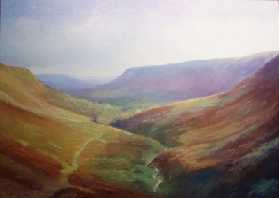 Olchon Valley (oil on canvas 88 x 52cm framed) Sold by Andrew Grisman