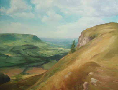 On The Skirrid (oil on canvas unframed 76 x 60cm) £450  plus delivery by Andrew Grisman