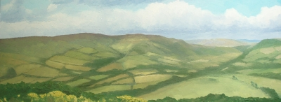 Radnor Hills (oil on board unframed 100 x 40cm) £450 plus delivery by Andrew Grisman