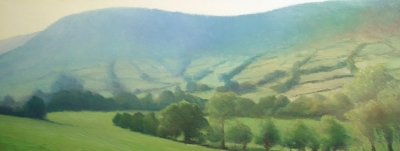 Hatteral Hill Haze (oil on board unframed 100 x 40cm) £450 plus delivery by Andrew Grisman