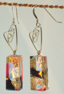 Earrings with Twizzles (colours and sizes vary) £22 plus p+p by Mary Thorpe