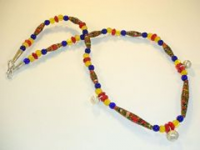 Paper Bead Retro Pom Pom Design, SOLD (jewellery prices from £15) by