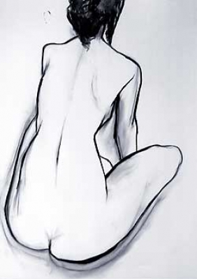 Nude (graphite) Sold by Anthea Stilwell