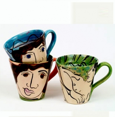 Mugs (ceramics) £30 each by Karen Atherley
