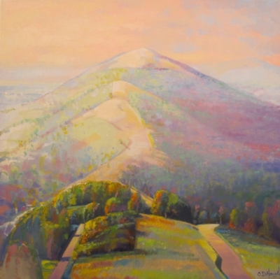 Misty Mellow Malverns (oil on canvas 60 x 60cm framed) £650 plus delivery by Chris Howells