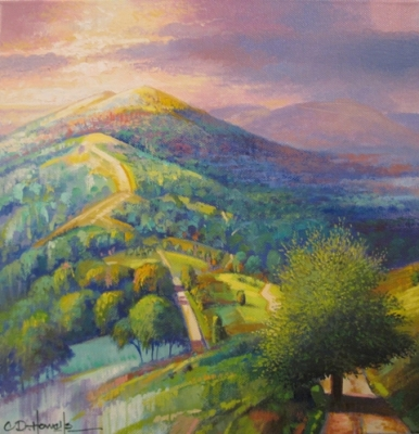 Malvern III Study (oil on canvas 30 x 30cm unframed) £375 plus delivery