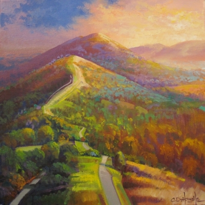 Malvern I Study (oil on canvas 30 x 30cm unframed) £375 plus delivery by Chris Howells