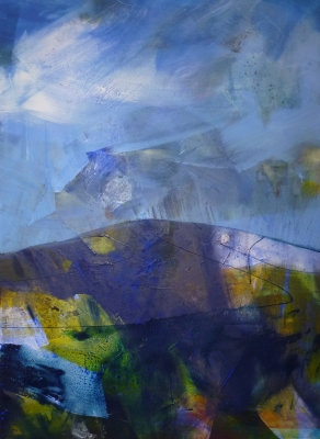 Day Two (mixed media 165 x 180cm unframed) £3500 plus delivery by Jo Lucas