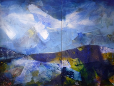 'Day One, Day Two' (mixed media 330 x 360cm unframed) £7000 plus delivery by Jo Lucas