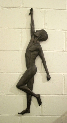 Hanging Nude II (limited edition bronze resin 36 x 114cm) £375 plus delivery web by Sarah Cotterill