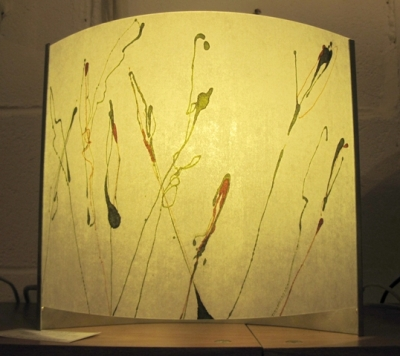 Small  Grasses Table Lamp (polycarbonate, chinese paper and steel) £85 plus delivery by Colin Chetwood