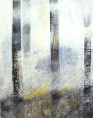 Forest (oil on canvas unframed 80 x 100cm) by Alison Macgregor Grimley
