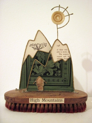 High Mountains (mixed media sculpture height 21cm) SOLD