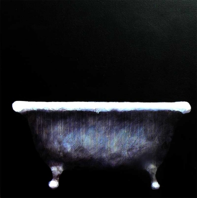 Tub (acrylic on canvas framed 82 x 82cm framed) £1100 plus delivery by Beth Richardson