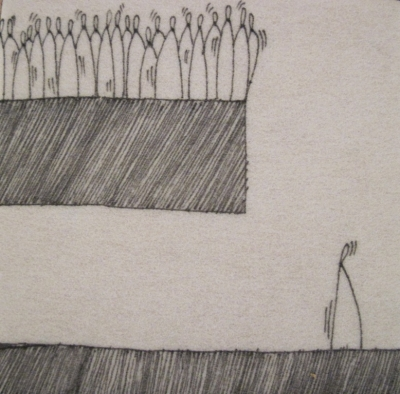 Crowded 2 (ink on fibre12 x 12 cm) £25 plus delivery