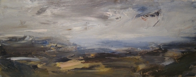 Towards Porthgain (oil on board framed 20 x 52cm) £850.00 plus delivery