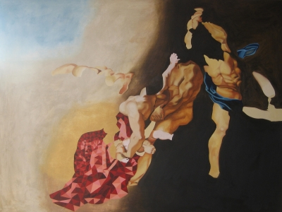 Broken Chains (oil on canvas 120cm x 90cm framed) £1600 plus delivery by Pia Dowse