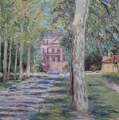 Chateau Margaux (94 x 94cm, oil on canvas) £1300 Plus delivery by Peter Burden