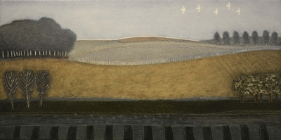Its Only Fields And Trees ( 62 x 123, oil) £1750 Plus delivery by Rob Van Hoek