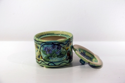 Sugar Bowl (hand decorated, glazed earthenware) £30 each, Plus delivery by Karen Atherley
