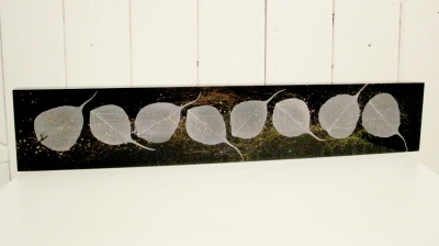 Leaf Wall Block, (silk & acrylic) £190 Plus delivery by Mary Thorpe