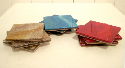 Coasters (silk & acrylic) £8 each plus delivery (Blue Sold)