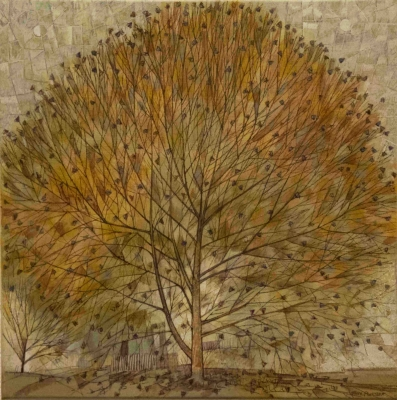 Gateway Tree Study I (pen & ink on canvas, 40x40cm) £200 Plus delivery by Tony Purser