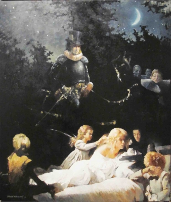 Midsummer Night's Dream (Oil on board, 112 x 128cm framed) £4000 Plus delivery by Brian Denington