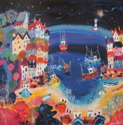 Briny Sea (mixed media on canvas framed 85 x 85cm) £695 plus delivery by Sara Mead