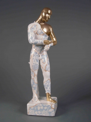 Standing Male Nude, precious series (original ceramics) £650 Plus delivery by Pierre Williams