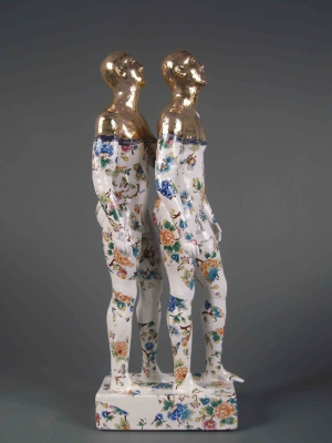Two Standing Male Nudes, precious series (original ceramics) £995 Plus delivery by Pierre Williams