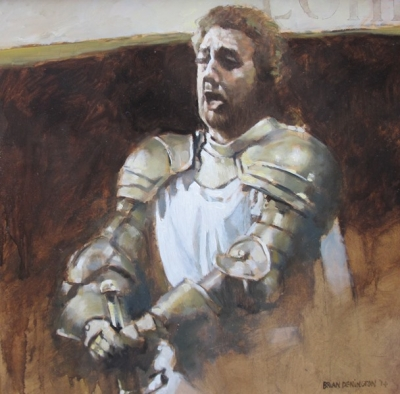 Placido Domingo as Lonhengrin (oil on board framed 68 x 68cm) £2000 plus delivery  by Brian Denington