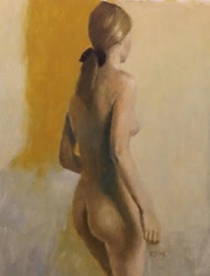 Standing Nude (oil on board framed ) £1200 plus delivery