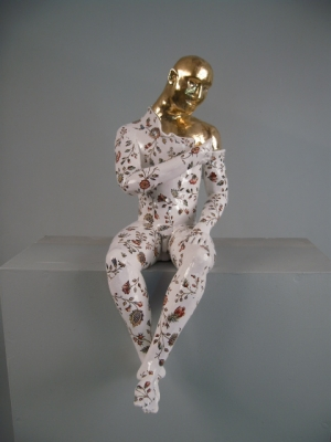 Seated Male Nude Precious Series (42) (16 x 35cms, Original Ceramics) £580 Plus Delivery by Pierre Williams