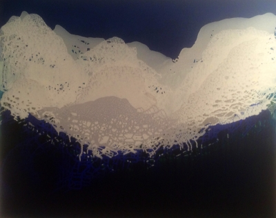 Nebulous (acrylic wash and oil on canvas, 107 x 86cm 36 x 38 inches) £2000 plus delivery by Maggie Jones
