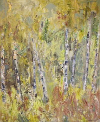 Spring Birches II Sold by Sally Stafford