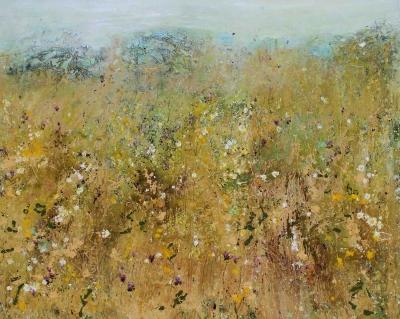 Summer Haze (120 x 150cm, mixed media) £3950 plus delivery by Sally Stafford