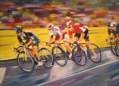 Swish,Tour de France (acrylic on canvas 80 x 60cm framed) £790 plus delivery