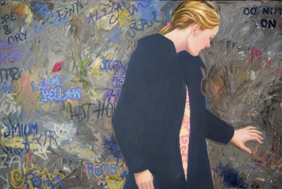 All You Need is Love (66 x 99 cm, oil on canvas framed) £1600 plus delivery by Jane Eccles