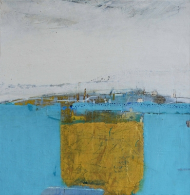 Golden Hull Form  (oil & mixed media on board, 40 x 40 cm) £1,200 plus delivery by Russell Frampton